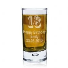 Personalised Age Bubble Shot Glass P0107A37